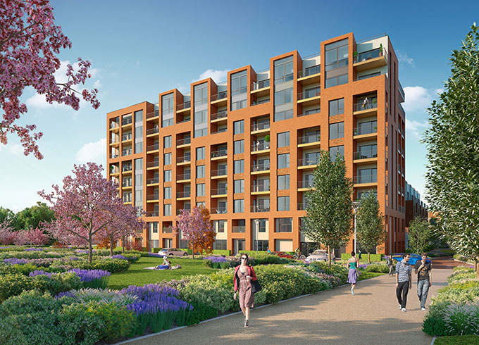 Colindale Gardens project with over 11,000 m2 of VELFAC composite glazing