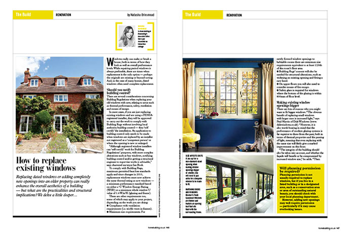 VELFAC featured in Homebuilding & Renovating Magazine - read the full article